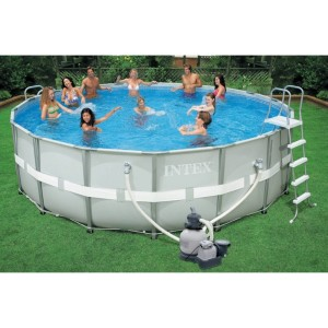 ... Intex Ultra Frame Pool Set, 18-Feet by 52-Inch Above Ground Pool ...