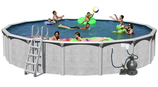 BestAboveGround RevSplash Pools above Ground Round Pool Package Riew