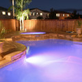 A well lit pool