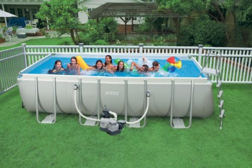 Intex ultra frame pool reviews pool university for Intex rectangular swimming pool