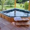 beautiful hot tub