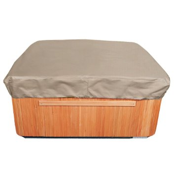 "EmpirePatio P9A16PM1 Tan Tweed 86"" Square Hot Tub Cap Cove"
