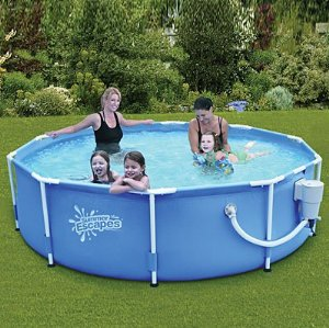 summer escapes above ground family swimming pool 10 x 30 metal frame